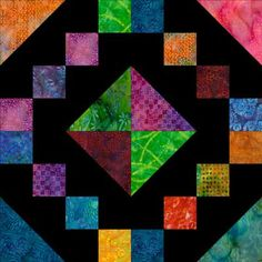 Sew Brightly Colored Batik Fabrics on Black to Make a Jewel Box Quilt: Learn How to Make a Jewel Box Quilt