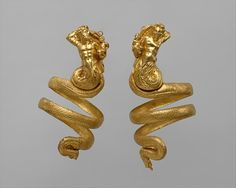 Pair of gold armbands, ca. 200 B.C.. Hellenistic. Greek. The Metropolitan Museum of Art, New York. Rogers Fund, 1956 (56.11.5, .6)