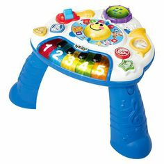 Baby Einstein Discovering Music Activity Table. Doesn't have to be this one, but the legs should be removable so they can play with it flat, too.