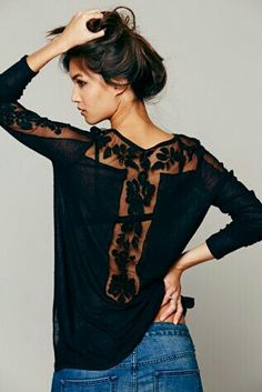 Free people women romantic jill tee.