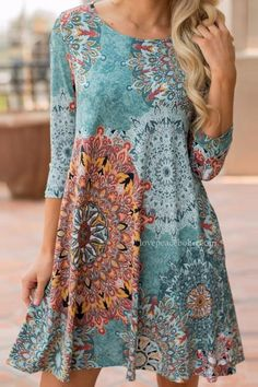 A woven dress featuring vintage boho print. Comes with round neckline and long sleeves. Excellent worn with boots and a cute scarf! Short Beach Dresses, Sexy Dresses, Casual Dresses, Mini Dresses, Women's Casual, Club Dresses, Cream Dresses, Sleeve Dresses, Summer Dresses