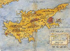 A very rare map of Cyprus of Ferrantus Bertelli, Isola di Cipro, Cyprus Insula olim Macharia, Rome 1562 Vintage Maps, Antique Maps, Cyprus Island, Nicosia Cyprus, North Cyprus, Haunted Forest, Best Authors, Island Nations, Old Maps