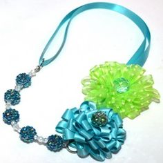 Morex Ribbon Flower Necklace