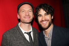 "Darren Criss and Neil Patrick Harris backstage at ""Hedwig and The Angry Inch"" on Broadway"
