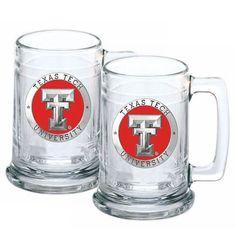 Texas Tech Red Raiders Beer Mug (Set of Two)