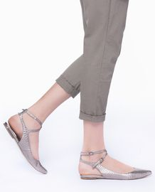 Strappy silver flats... Yay