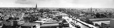 Veghel - zicht op de oude haven en het centrum van Veghel, omstreeks 1973