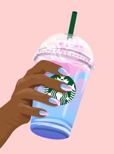 How To Make Starbucks Unicorn Frappuccino DIY Recipe If you're sad about the disappearance of Starbucks' Unicorn Frappuccino, take a look at these recipes so you can recreate it at home. Arte Starbucks, Starbucks Logo, Starbucks Secret Menu, Starbucks Quotes, Starbucks Pictures, Starbucks Unicorn Frappuccino Recipe, Starbucks Recipes, Starbucks Drinks, Coffee Recipes