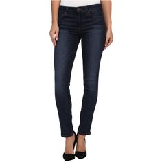 Joe's Jeans Mid Rise Skinny Ankle in Keely Women's Jeans, Blue ($85) ❤ liked on Polyvore featuring jeans, blue, zipper jeans, cropped jeans, mid-rise jeans, blue jeans and skinny jeans