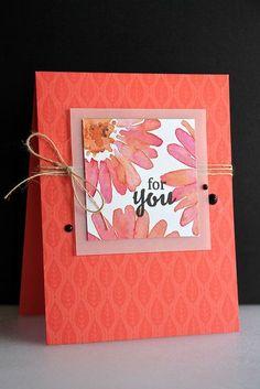 Cute coral card
