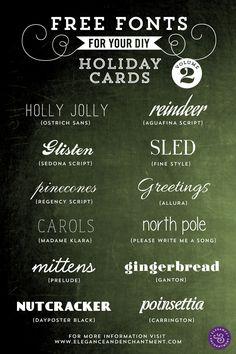 Free Fonts for DIY Holiday Cards - Volume 2 | Elegance & Enchantment