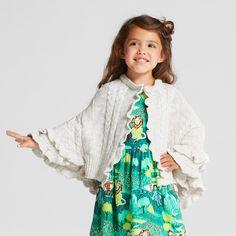 Toddler Girls' Poncho Sweater - Genuine Kids from OshKosh Cream 18M, Size: 18 M, Beige