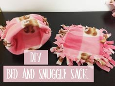 DIY Guinea Pig and Chinchilla Bed and Snuggle Sack  #guineapig #guineapigs #chinchillas #chinchilla #diy #pets #animals #fleece #cage #cages