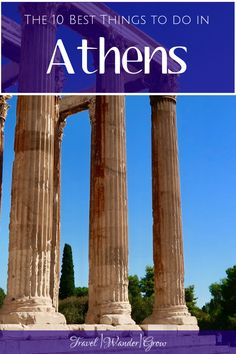 When compared to the Greek Isles, Athens has its own unique qualities that make it a great place to visit. I'll walk you through ten of the best things to do in Athens so you can see all the city has to offer! Road Trip Europe, Europe Travel Guide, Travel Destinations, Travel Plan, Travel Hacks, Travel Guides, Travel Tips, Greece Travel, Greece Trip