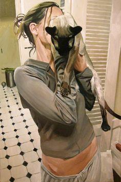 Feline, 66 x 44, oil on canvas, by Stephen Wright.