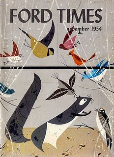 cover by Charley Harper (1954). So many contemporary illustrators are jumping onto the Charlie Harper bandwagon. But none of them do it as well as the master.