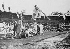 Albert Gutterson | Albert Gutterson vid OS 1912. Guld i längd hopp till USA