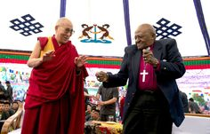 """From The Dalai Lama and Archbishop Desmond Tutu's new book, """"The Book of Joy,"""" we get an inside look at the spiritual leaders' dear friendship. The Book Of Joy, Desmond Tutu, Freedom Day, Church Music, Employee Engagement, Fun Events, Home Schooling, Dalai Lama, Namaste"""