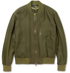Maison Martin Margiela Silk-Canvas Bomber Jacket | MR PORTER