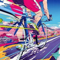 Illustration, Design & Art Direction by Andrew Archer of Melbourne, Australia. Creating innovative and original imagery for agencies, brands and people. Art And Illustration, Bicycle Illustration, Gravure Illustration, Illustrations, Bike Design, Design Art, Graphic Design, Grid Design, Bike Poster