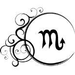 Ornamental scorpio tattoo design