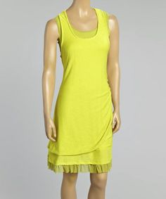 Look what I found on #zulily! Citrus Ruched Midi Dress - Women & Plus by Zoé Collection #zulilyfinds