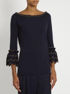 Alex Gore Browne Zigzag wool and cashmere-blend sweater