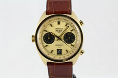 Heuer Carrera Reference 1158, 18k gold automatic