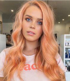 Best hair extensions companies – My hair and beauty Pastel Orange Hair, Peach Hair Colors, Coral Hair, Blorange Hair, Halo Hair, Dye My Hair, Apricot Hair, Hair Extensions Best, Colorful Hair