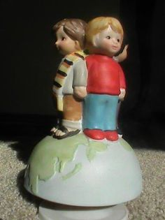 We Are The World Figurine Music Box by Gramamma on Etsy, $25.00