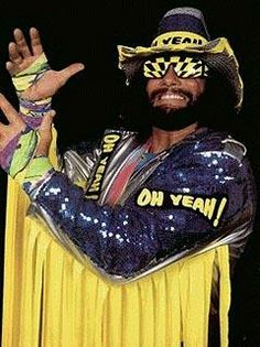 i can't stop laughing at going as randy savage in ladies beard contest. would take some work in the costume making but might totally be work it!