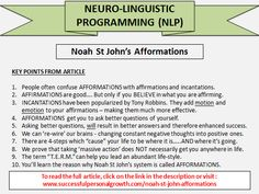 Noah St John's Afformations is a system not to be confused with affirmations or incantations. Nlp Coaching, Girls Camp, Tony Robbins, Personal Development, Affirmations, Believe, Therapy, Self, Articles