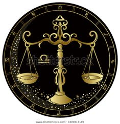 Стоковая векторная графика «Libra Zodiac Sign Golden Circle On» (без лицензионных платежей), 1609813189 Jena, Astrology Zodiac, Zodiac Signs, Horoscope, Golden Circle, Autumn Scenery, Illustration, Pocket Watch, Accessories