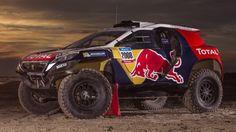 La Peugeot 2008 DKR dans sa livrée définitive, prenant part au Dakar 2015