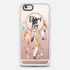 Dream Big Watercolor Dreamcatcher -protective iPhone 6 phone case in Clear and Clear by @rubyridgestudio | @Casetify