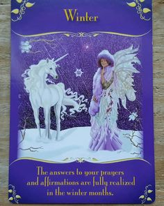 Winter is a time of completion, the end of a cycle.   The Fairies want you to know that you're on the right path to the realizing of your goals and dreams.   Continue following your intuition and working towards your goals right now.  Don't procrastinate,  you're almost there! #angels #fairies #guidance #tarot #oracle