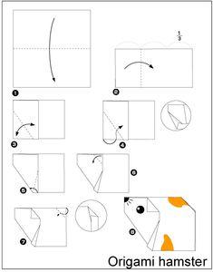 origami hamster vouwen