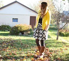 noodlehead: fall skirt