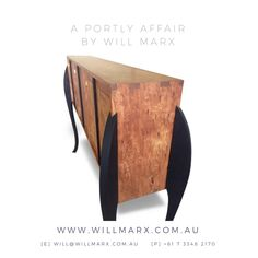 An elegant modern mid-century cabinet designed and handmade from Tasmanian Blackwood by Will Marx. Tasmanian Blackwood is a highly cherished solid timber species popular for it's golden and dark chocolate growth rings.