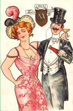 Art Nouveau Post card