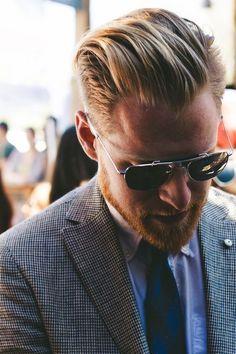 Cool Blonde, Blonde Guys, Hair And Beard Styles, Long Hair Styles, Slicked Back Hair, Mens Hair Trends, Men's Grooming, Great Hair, Facial Hair