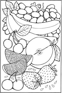 fruit coloring pages sheet free to print - Free Colouring For Kids