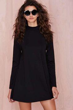 Nastygal Nasty Gal Dollskill On Mock Down Black Dress New Size Small #Nastygal #MockNeck