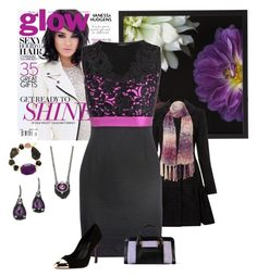 """purple & black dress"" by rkdk1101 ❤ liked on Polyvore featuring Dahlia, Helene Berman, James Lakeland, Miso, Vanity Her, Judith Ripka, PeepToe and Chloé"