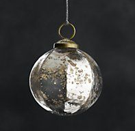 Vintage Hand-Blown Faceted Ball Ornaments - Silver