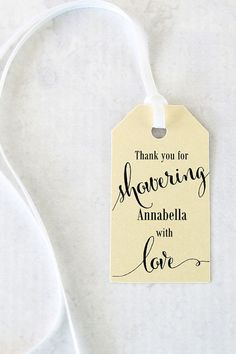Bridal Shower Favor Tags Showering with Love Tags by iDoTags