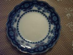 Staffordshire Flow blue Dinner plate, Crumlin pattern