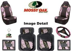 Mossy Oak Infinity Pink Camo Print Car Truck SUV Front & Rear Seat Heavy Duty Trim-to-Fit Rubber Floor Mats Universal-fit Front Bucket Seat Covers Steering Wheel Cover Key Chain - 8PC, http://www.amazon.com/dp/B00CMSV2DW/ref=cm_sw_r_pi_awd_Zwsdsb0DPQXG6