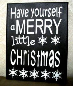 Christmas Chalkboard chalk subway art typography by ElainesCrafts, $28.00