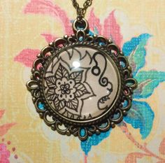 Leo Zodiac Necklace Hand drawn by EternalGirl on Etsy, $18.00